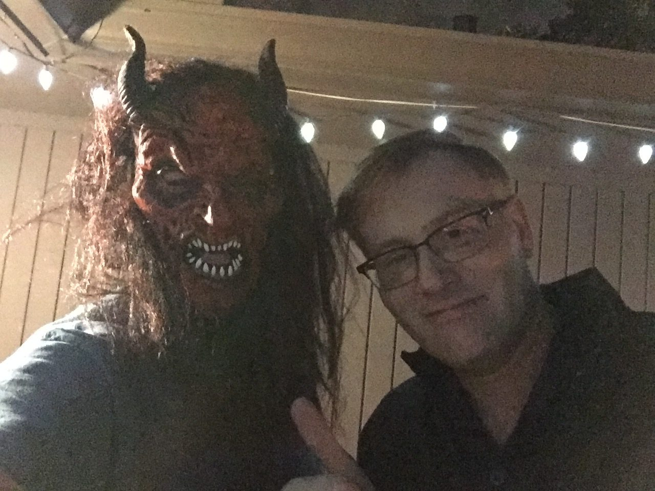 Scarydad (left) and Chris Jordan (Right) sit down to discuss Krampus.
